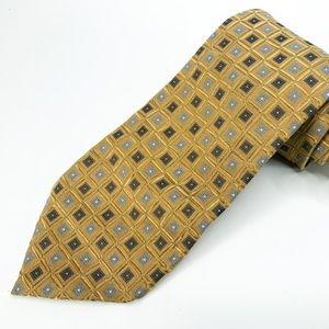 "Hugo Boss 100% Silk Neck Tie 3.5"" Width Gold"